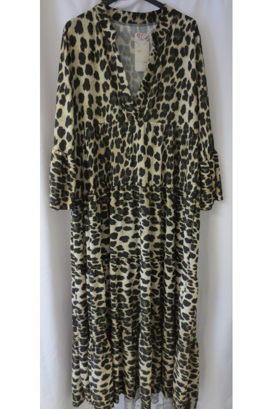 Longkleid, Animalprint