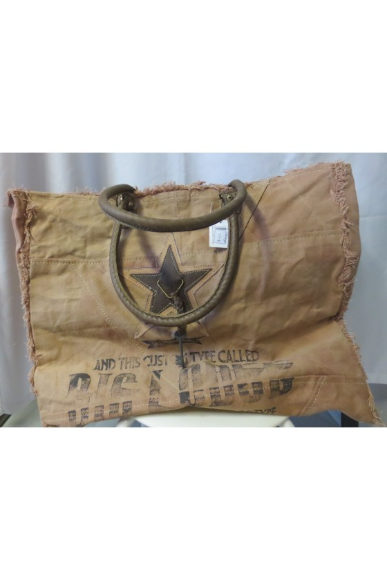 Tasche, Shopper, Canvas/Leder,