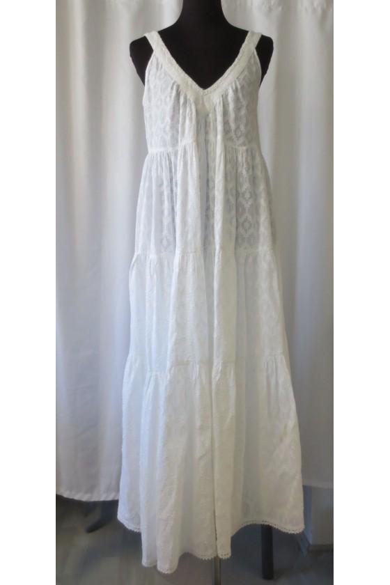 Kleid, Trägerkleid, weiß,...