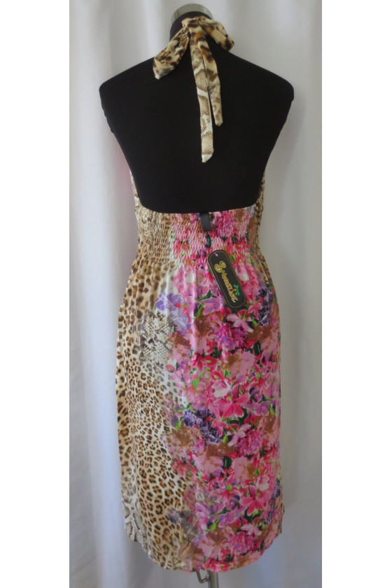 Kleid, Kurzkleid, multicolor, Animalprint