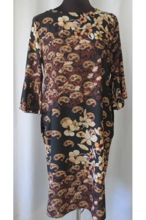 Kleid, braun multicolor,...