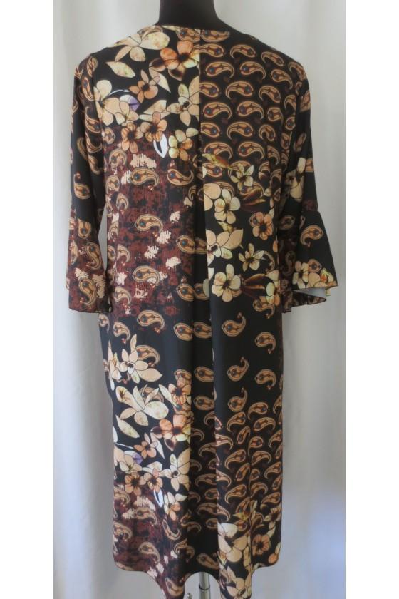 Kleid, braun multicolor, gemustert