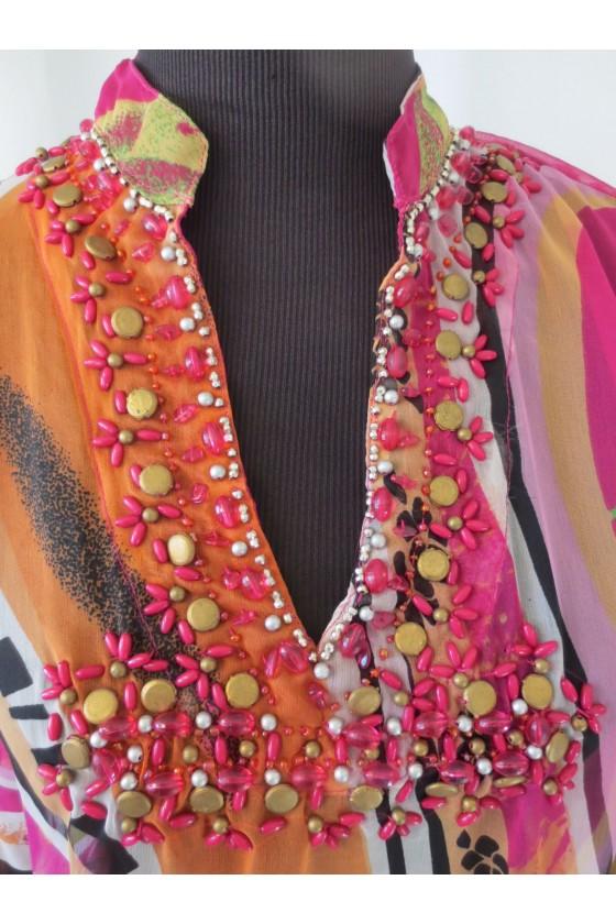 Tunika, multicolor, gemustert