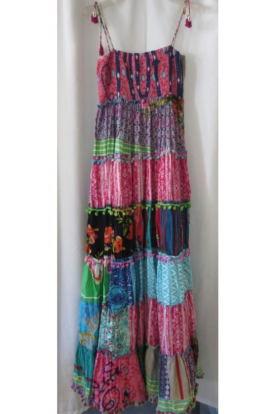 Longkleid, multicolor