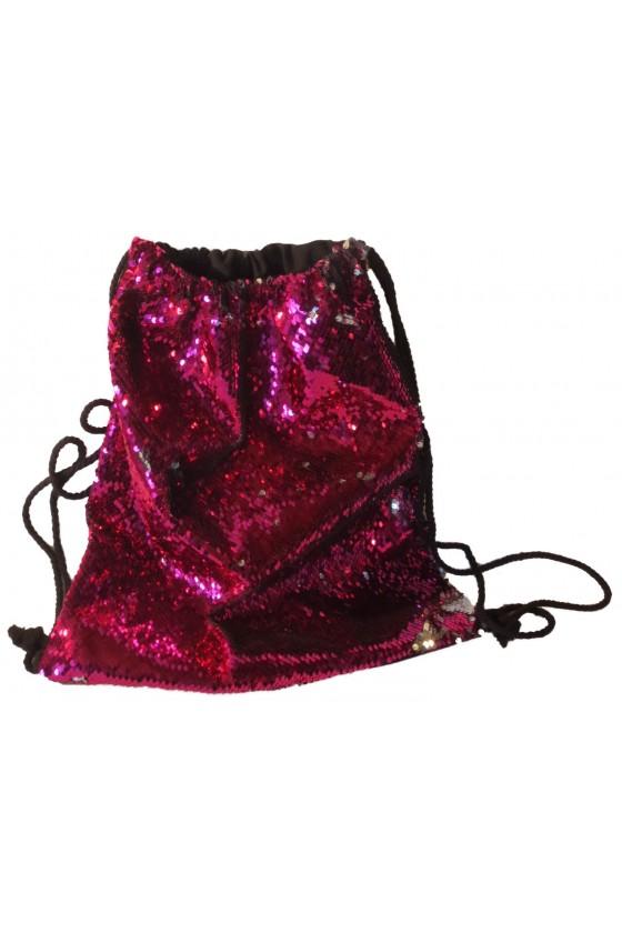 Rucksack, pink/schwarz