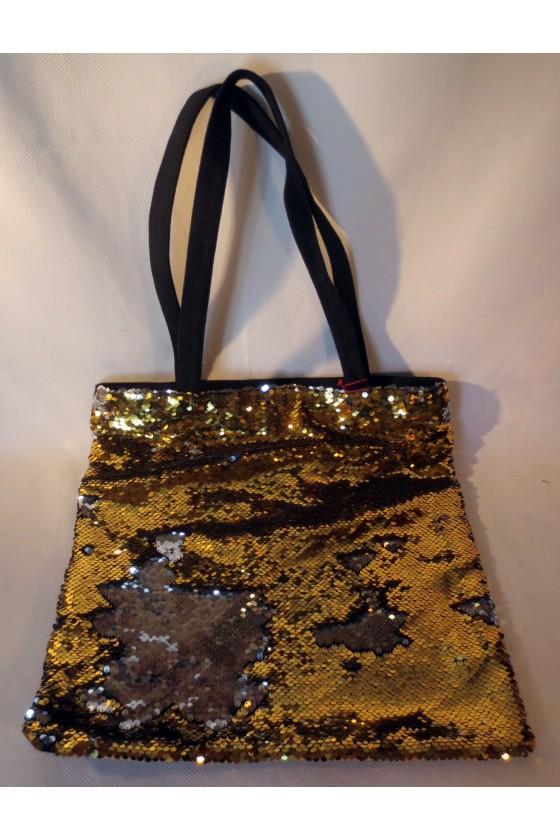 Tasche, gold/schwarz