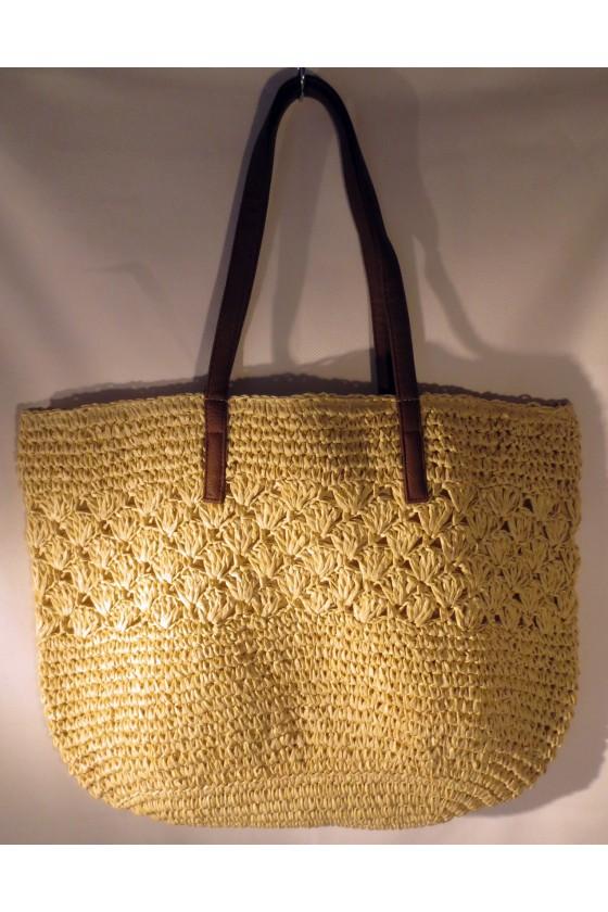 Schultertasche, Strandtasche, Tasche, natur